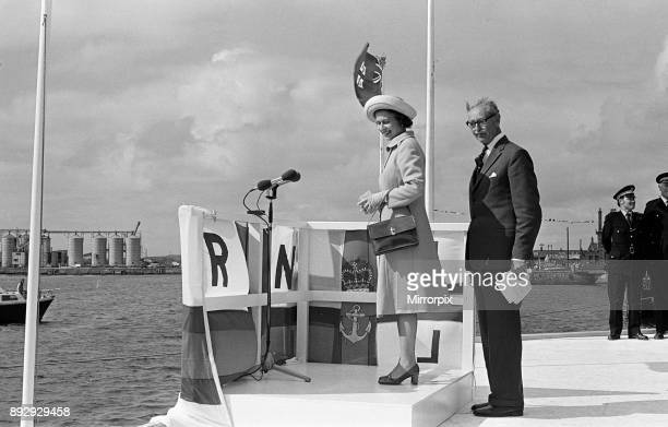 Queen Elizabeth II visits Hartlepool Lifeboat 14th July 1977