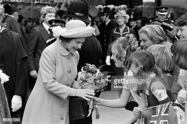 Queen Elizabeth II visits Hartlepool Town Centre during her Silver Jubilee tour 14th July 1977
