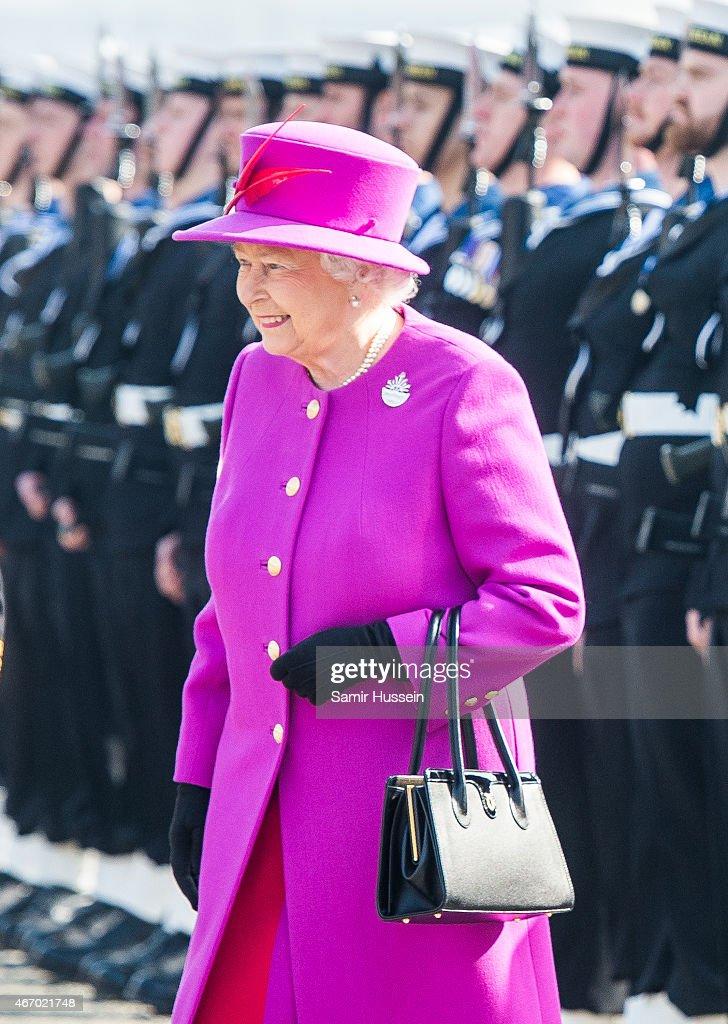 The Queen Visits HMS OCEAN : News Photo