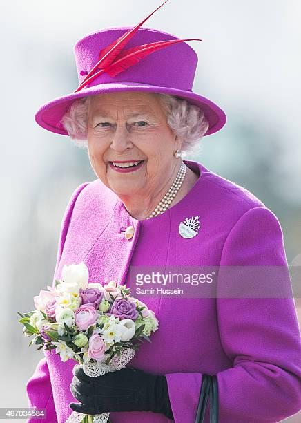 Queen Elizabeth II visits HMS Ocean on March 20 2015 in Plymouth England