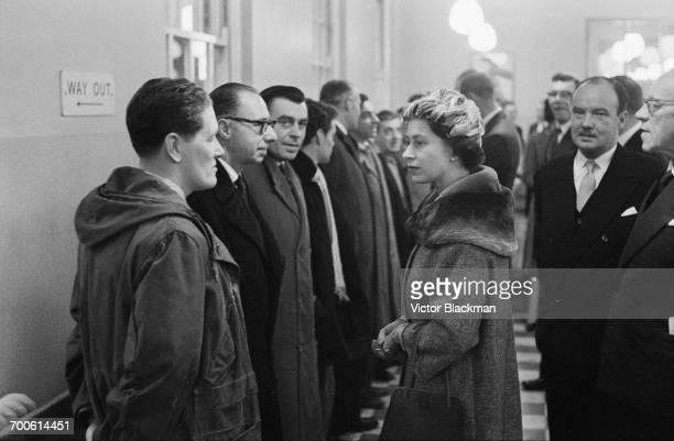Queen Elizabeth II visits Holloway Employment Exchange in London 17th November 1960