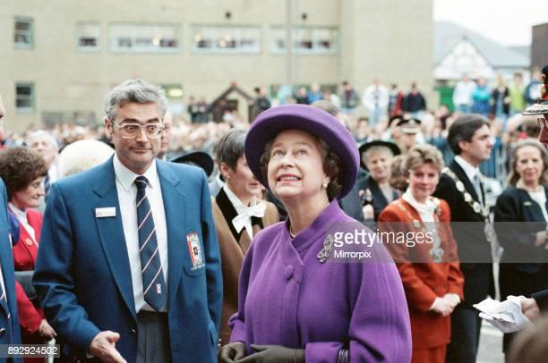 Queen Elizabeth II visits Huddersfield 30th November 1990