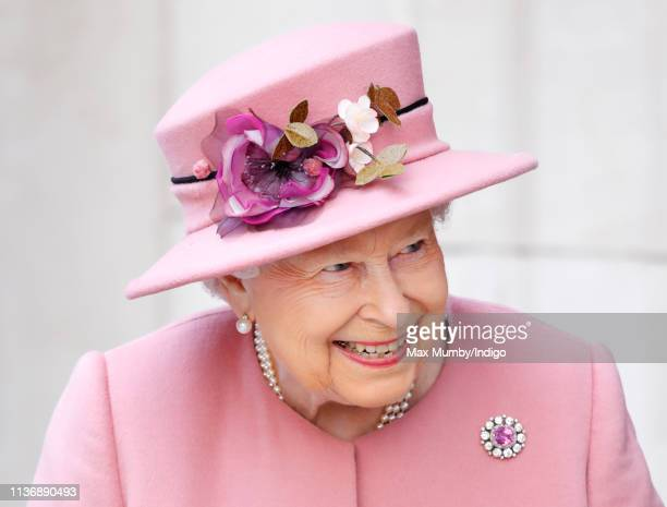 Queen Elizabeth II visits King's College London to officially open Bush House the latest education and learning facilities on the Strand Campus on...