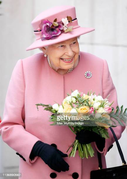 Queen Elizabeth II visits King's College London to officially open Bush House, the latest education and learning facilities on the Strand Campus on...