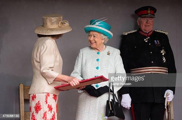 Queen Elizabeth II visits Lancaster Castle on May 29 2015 in Lancaster England