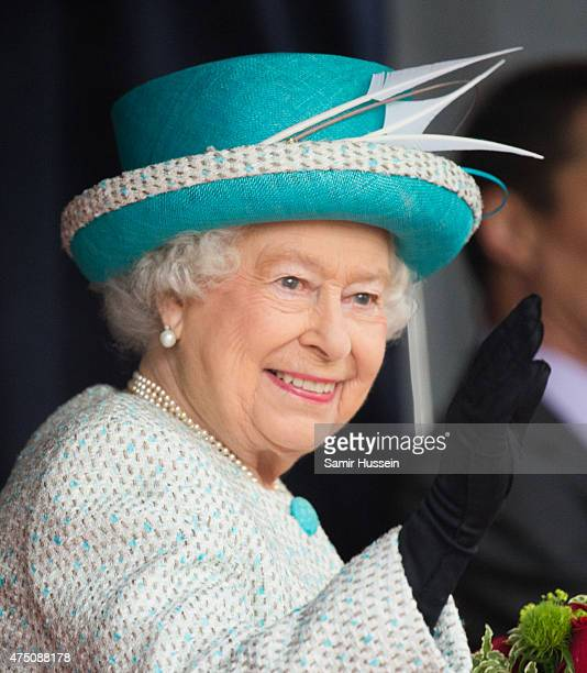 Queen Elizabeth II visits Lancaster Castle on May 29 2015 in Lancaster England