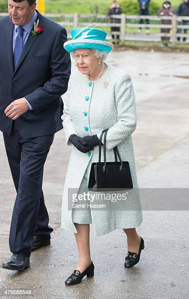 Queen Elizabeth II visits Myerscough College at Lodge Livery Yard on May 29 2015 in Lancaster England