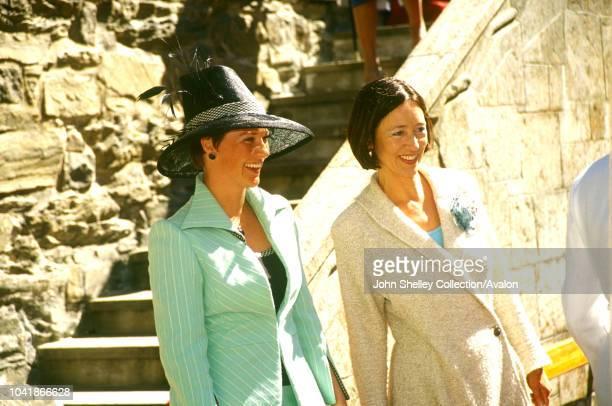 Queen Elizabeth II visits Norway, Princess Martha Louise and Ingrid Schulerud, Akershus Castle, 31st May 2001.