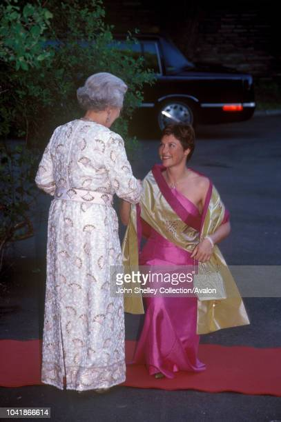 Queen Elizabeth II visits Norway Princess Martha Louise Reception at the British Ambassador's Residence 31st May 2001