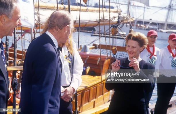 Queen Elizabeth II visits Norway The Duke of Edinburgh and Queen Sonja 31st May 2001