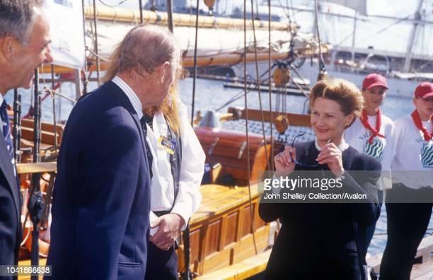 Queen Elizabeth II visits Norway The Duke of Edinburgh and Queen Sonja 31st May 2001