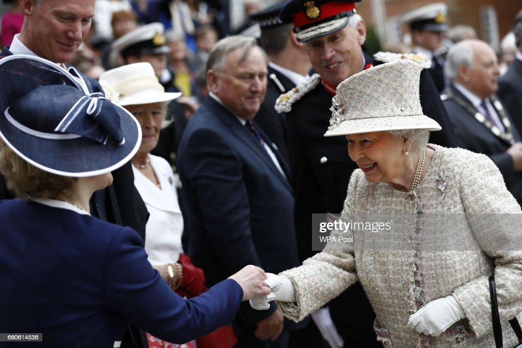 The Queen & Duke Of Edinburgh Visit Pangbourne College To Celebrate It's Centenary : News Photo
