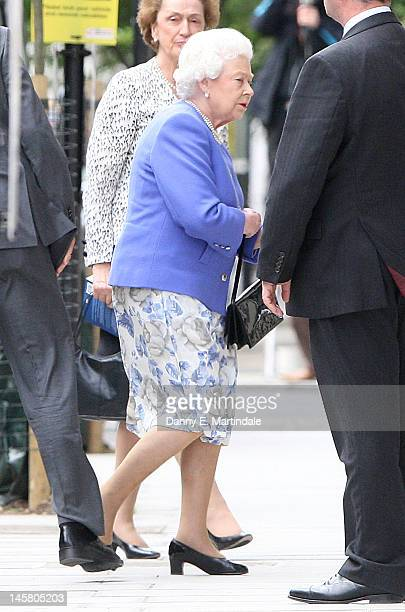 Queen Elizabeth II visits Prince Philip Duke of Edinburgh in the King Edward VII hospital on June 6 2012 in London England Prince Philip's condition...