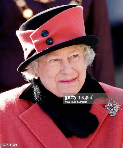 Queen Elizabeth II visits Queen's Square during the Sixtieth Anniversary celebrations of Crawley New Town on November 3, 2006 in Crawley, England.
