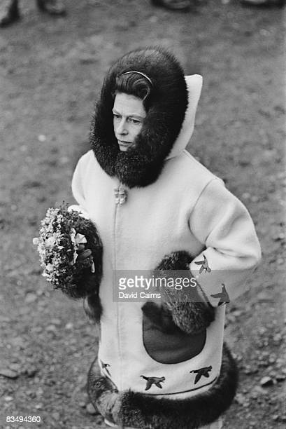 Queen Elizabeth II visits Resolute Bay in Nunavut during a royal tour of Canada July 1970