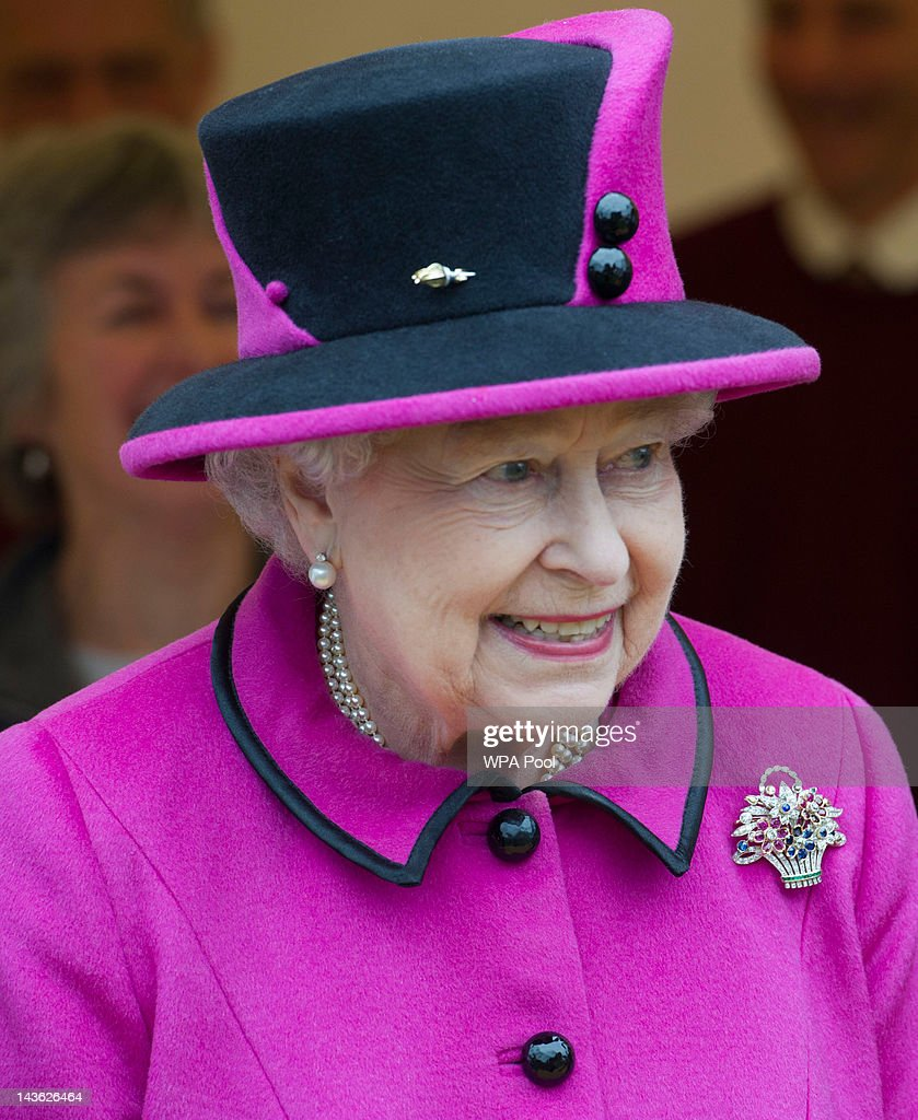 Queen Elizabeth II Accompanied By The Duke Of Edinburgh Visits The South West : News Photo