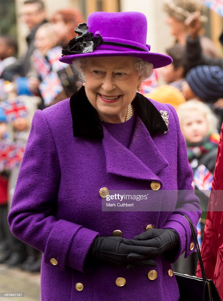 Queen Elizabeth II visits Southwark Cathedral on November 21, 2013 in London, England.