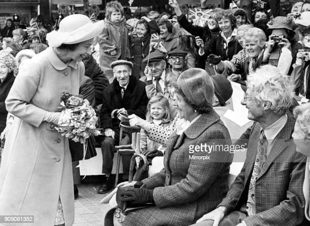 Queen Elizabeth II visits Stockton during her Silver Jubilee tour, 14th July 1977.