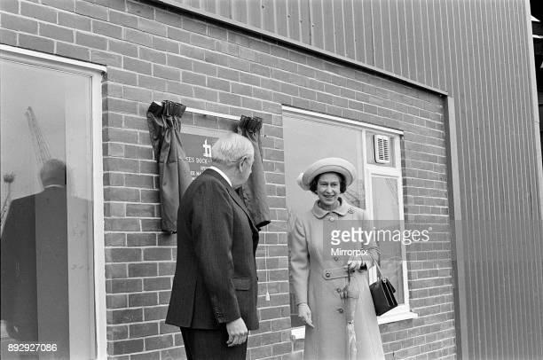 Queen Elizabeth II visits Tees Dock 14th July 1977