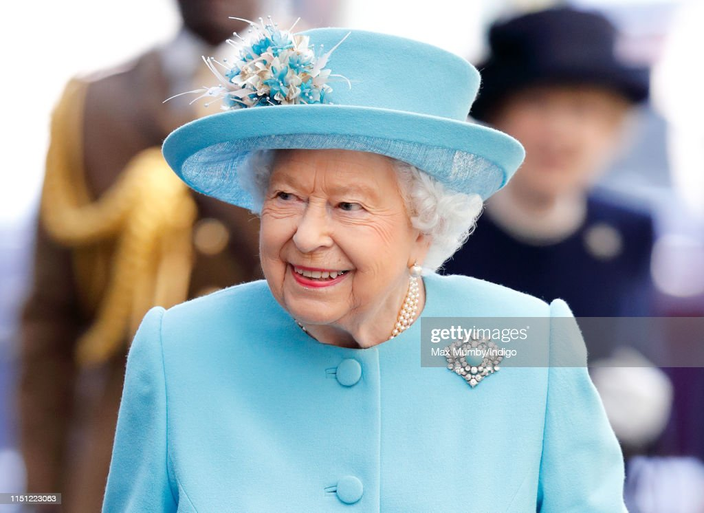 The Queen Visits The British Airways Headquarters To Mark Their Centenary : News Photo