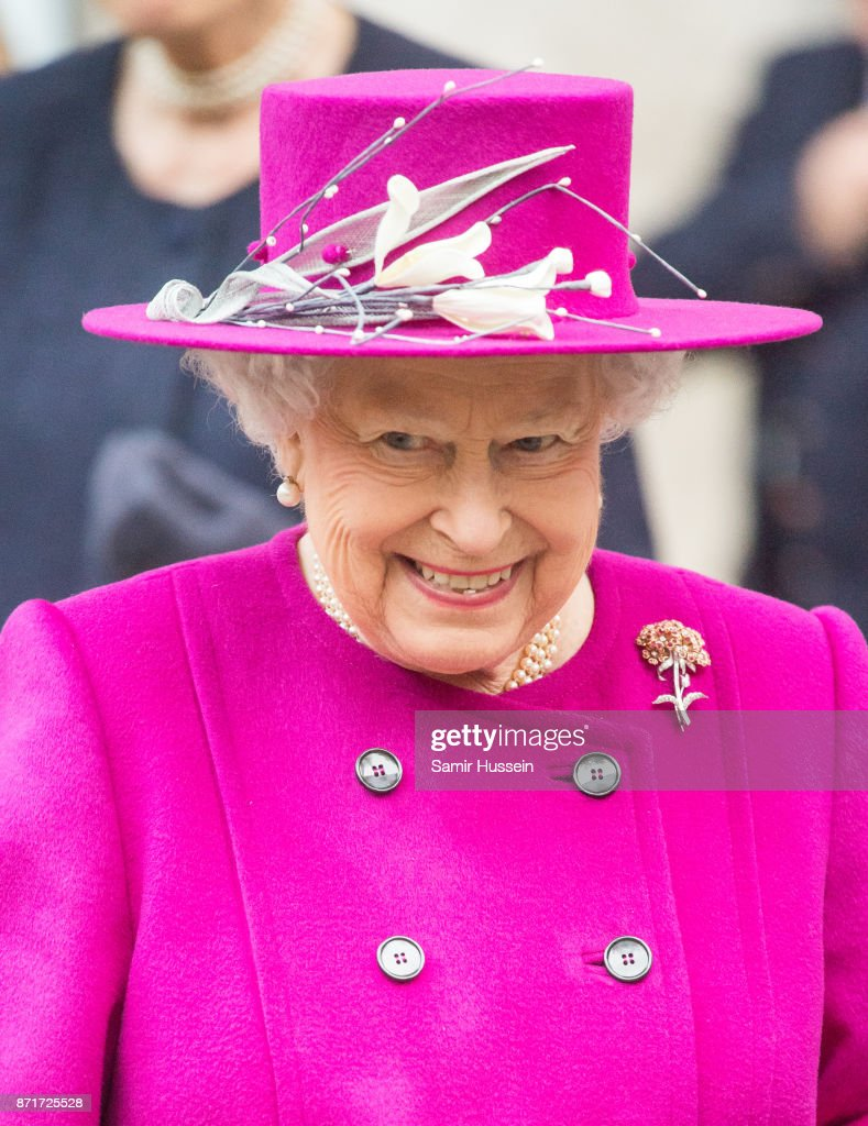 Queen Elizabeth II visits The British Museum to reopen The Sir Joseph Hotung Gallery on November 8, 2017 in London, England.