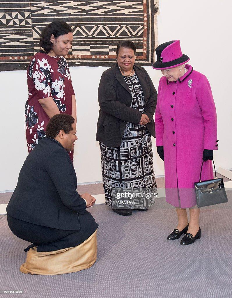 The Queen & Duke Of Edinburgh Attend The Fiji Exhibition : News Photo