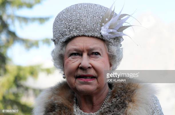 Queen Elizabeth II visits the Hrebienok ski resort 1285 m where she arrived by funicular railway and took a short walk combined with the opening of a...