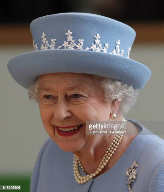 Queen Elizabeth II visits the new South West Acute Hospital in Enniskillen County Fermanagh during a twoday visit to Northern Ireland as part of the...