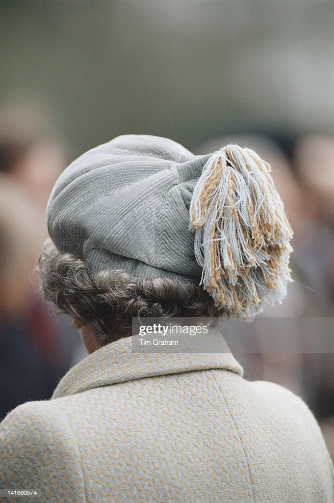 Queen Elizabeth II visits the Royal Agricultural College in Cirencester, March 1996.