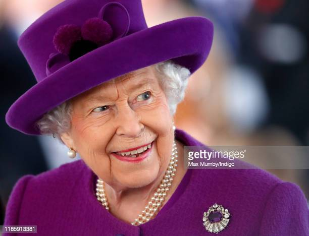 Queen Elizabeth II visits the Royal British Legion Industries village to celebrate the charity's centenary year on November 6 2019 in Aylesford...