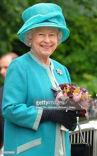 Queen Elizabeth II visits the Royal Horticultural Society Garden at Wisley, where, as RHS Patron, she officially opened The Glasshouse in celebration...