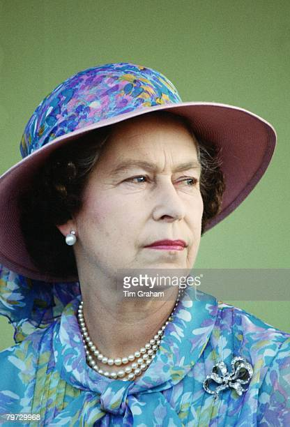 Queen Elizabeth II visits the village of Bairagpur during a visit to Bangladesh