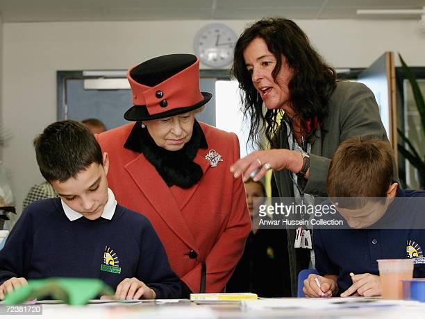 Queen Elizabeth II visits Thomas Bennett Community College on November 3 2006 in Crawley England Queen Elizabeth II has scaled down her original...