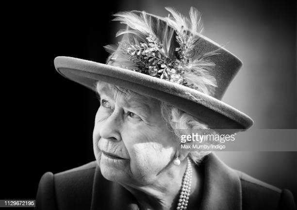 Queen Elizabeth II visits Watergate House to mark the centenary of GCHQ the UK's Intelligence Security and Cyber Agency on February 14 2019 in London...