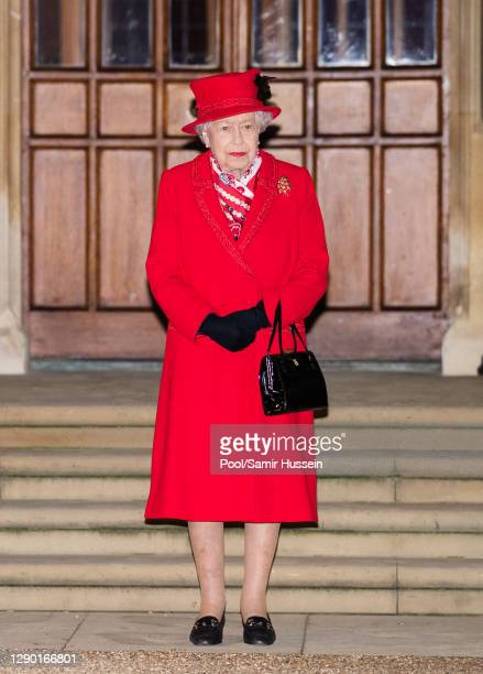 Queen Elizabeth II waist to thank local volunteers and key workers for the work they are doing during the coronavirus pandemic and over Christmas in...