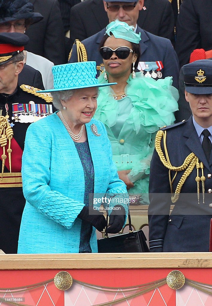 Queen Elizabeth II Attends The Armed Forces Parade And Muster : News Photo