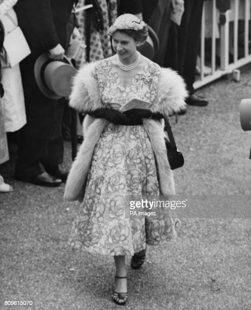 Queen Elizabeth II walks to the paddock on Gold Cup day at the Royal Ascot race meeting