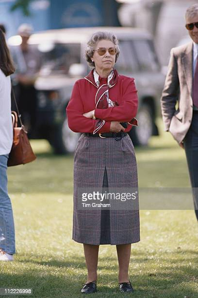 Queen Elizabeth II watching the Royal Windsor Horse Show held at Home Park in Windsor Berkshire England Great Britain 16 May 1992