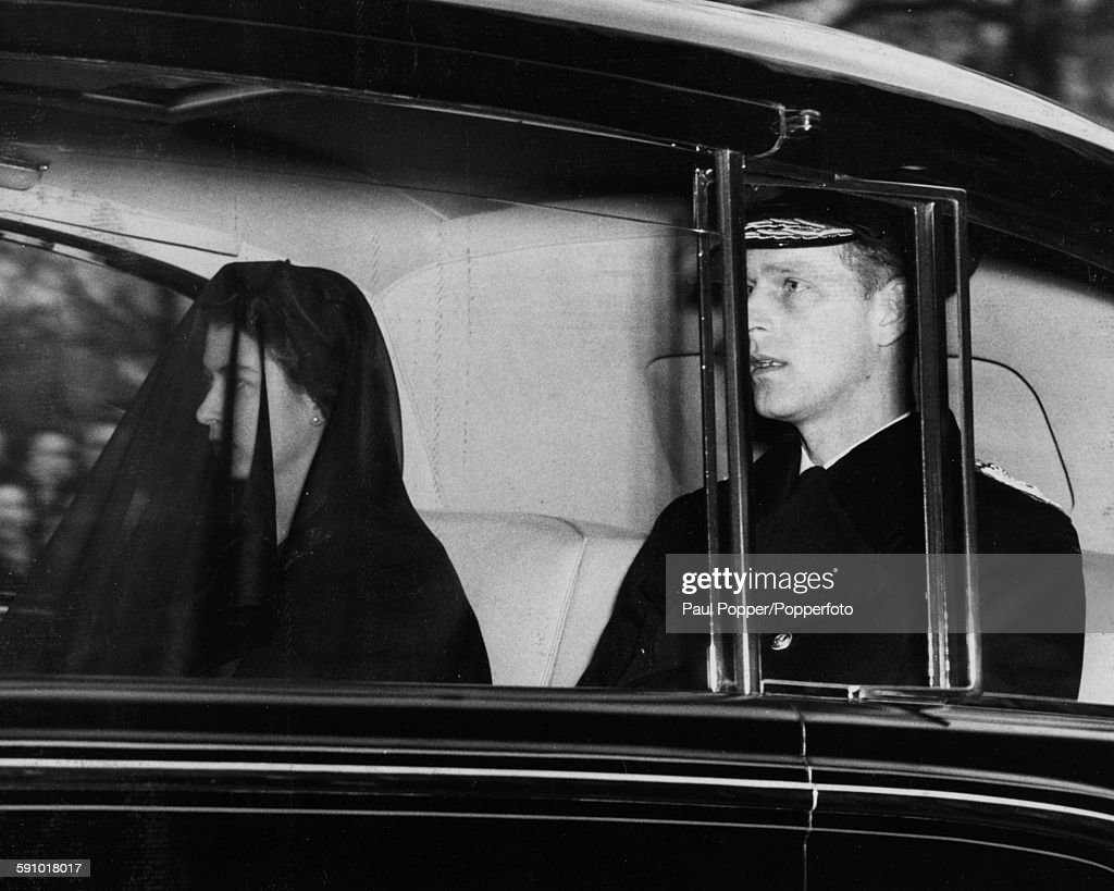 Queen Elizabeth II And Prince Philip In Mourning : News Photo