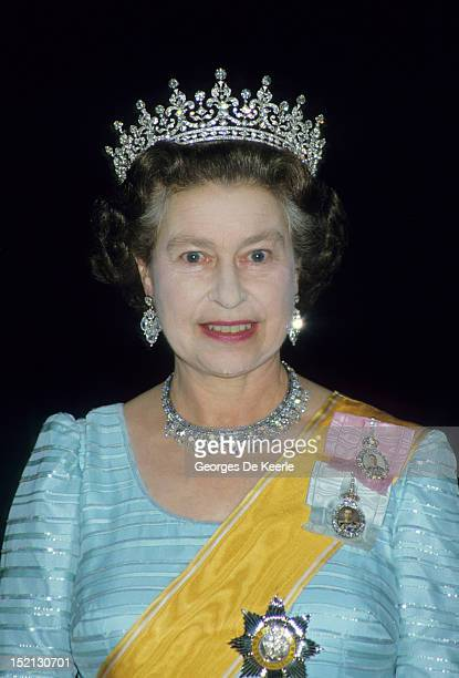 Queen Elizabeth II wears 'Granny's Tiara' to a banquet in Nepal The tiara was originally given to Queen Mary on her marriage and is made of diamond...