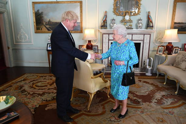 GBR: Queen Receives Outgoing and Incoming Prime Ministers
