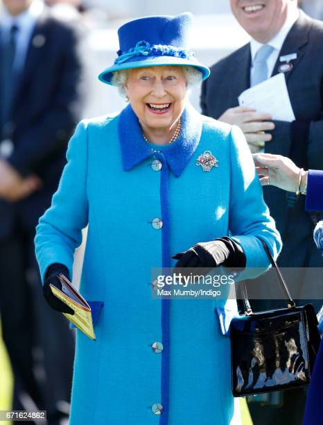 Queen Elizabeth II who celebrated her 91st birthday yesterday watches her horse 'Call To Mind' win The Dubai Duty Free Tennis Championships Maiden...