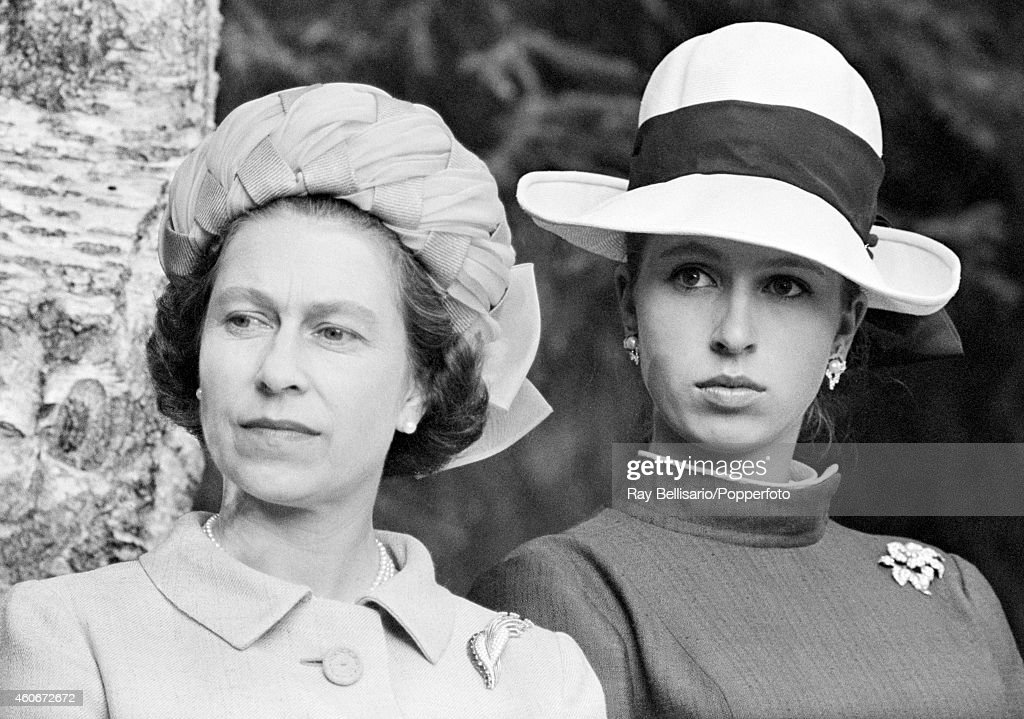 Queen Elizabeth II And Princess Anne During A State Visit To Norway : News Photo