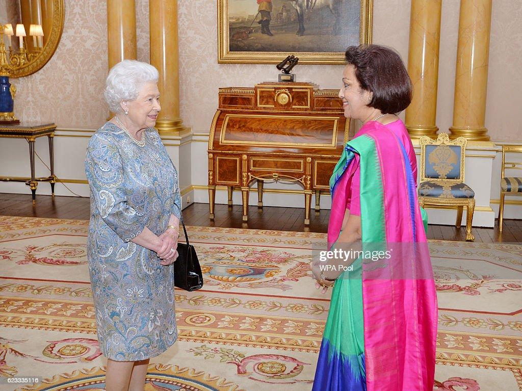 Audience at Buckingham Palace : News Photo