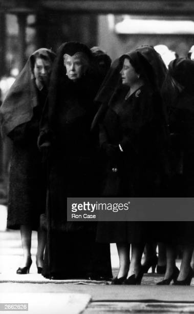 Queen Elizabeth II with Queen Mary and Queen Elizabeth the Queen Mother at King George VI's funeral