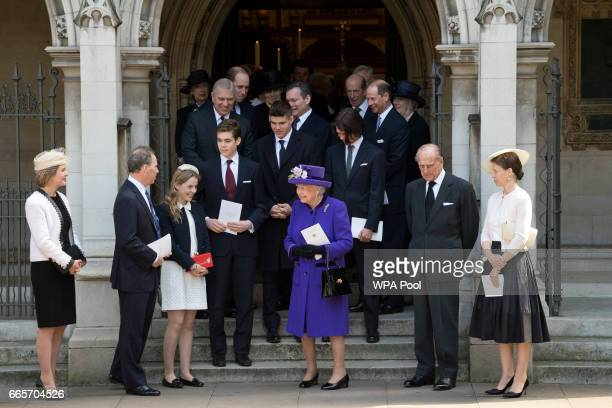 Queen Elizabeth II with with Serena ArmstrongJones Countess of Snowdon David ArmstrongJones Lady Margarita ArmstrongJones Prince Philip Duke of...