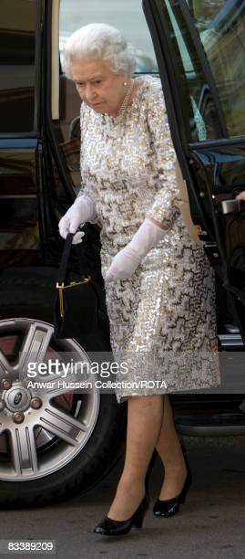 Queen Elizabeth ll arrives for a Duke of Edinburgh's Award presentation ceremony at the Philharmonic Hall on the second day of a State Visit to...