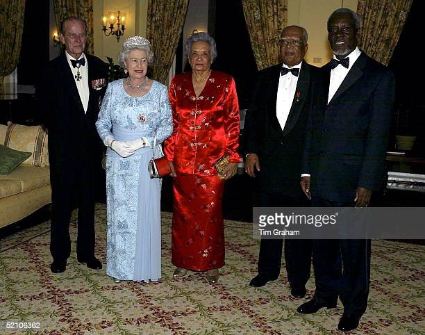 Queen Elizabeth Ll At A Dinner At The Governor General's Residence Kings House Where She Is Also Staying Prince Philip Queen Elizabeth Ll Lady Cooke...