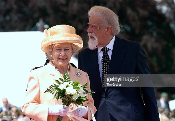 Queen Elizabeth Ll At Harewood House As Part Of Her Nationwide Golden Jubilee Tour With George Lascelles The Seventh Earl Of Harewood, Her Cousin.