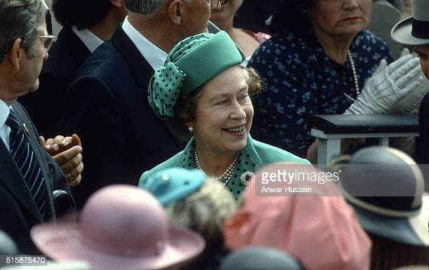 Queen Elizabeth ll attends Royal Ascot on June 01 1983 in Ascot England